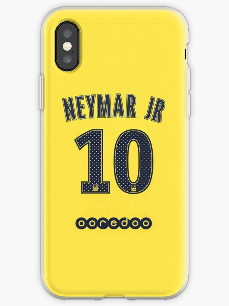 fd900b4794b2a 'NEYMAR JR x / PSG / SPECIAL COVER AWAY KIT' iPhone Case by Jey13