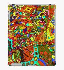 Beautiful, decorative, psychedelic hippie background. iPad Case/Skin