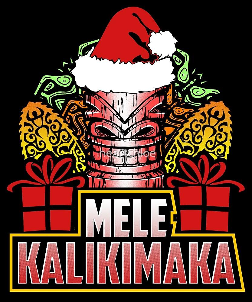 mele kalikimaka hawaiian merry christmas tiki by heartchloe