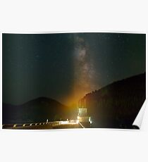 Milky Way over Detroit Dam Poster