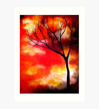 Mist in a Sunset Art Print