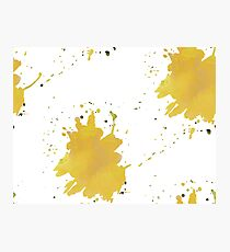 color blot spots yellow watercolor  Photographic Print