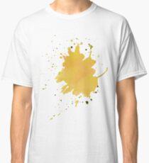 color blot spots yellow watercolor  Classic T-Shirt