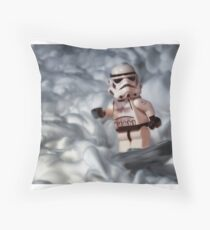 Surfin On A Sea Of Foam Throw Pillow