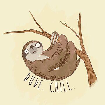 Chill Sloth by AlanBaoArt