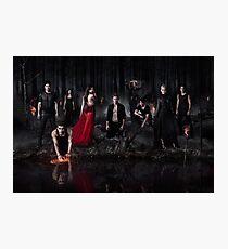 Season 5 of The Vampire Diaries Photoshoot: Cast Photographic Print