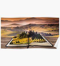paysage,livre,campagne, Poster