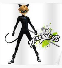MIRACULOUS LADYBUG, CAT NOIR Poster