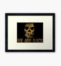 the skull back to us Framed Print