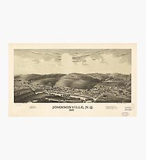 Aerial View of Johnsonville, New York (1887) Photographic Print