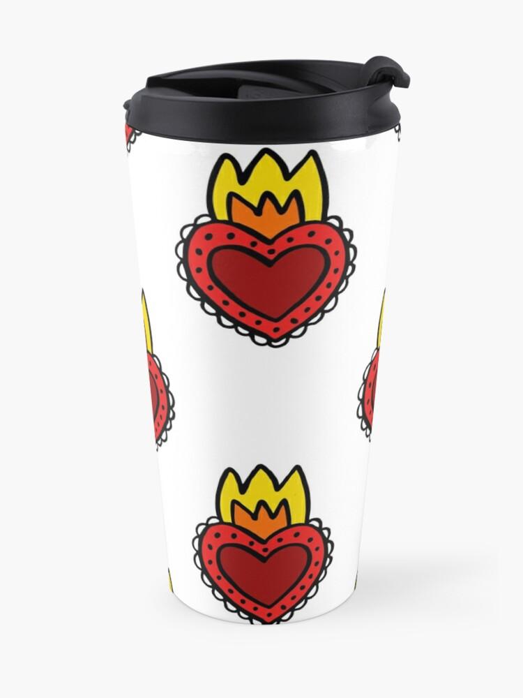 Alternate view of sacred heart Travel Mug