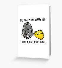 This might sound cheesy - Food Pun Greeting Card