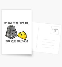 This might sound cheesy - Food Pun Postcards