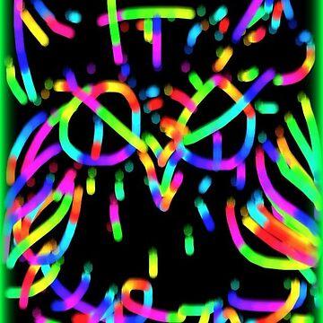Neon Owl 01 by SedgieArt