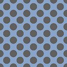 Blue and Grey Polka Dots by whatsandramakes