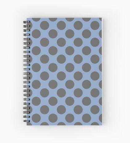 Blue and Grey Polka Dots Spiral Notebook
