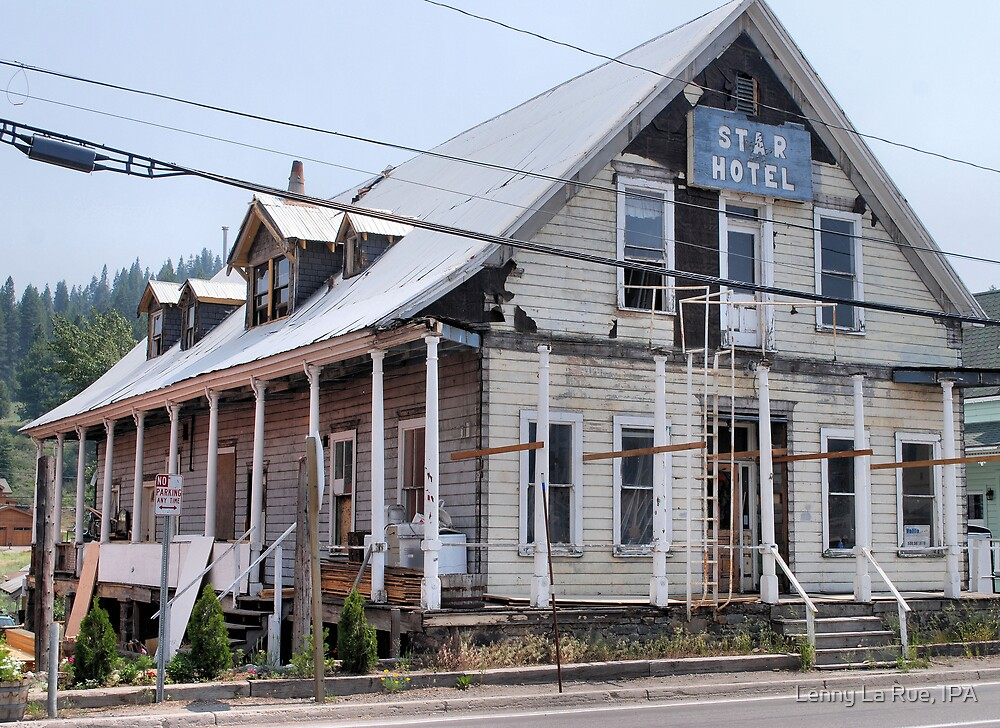 old hotel in historic Truckee by Lenny La Rue, IPA