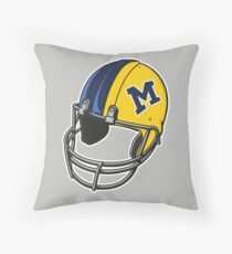 Michigan Football Helmet Throw Pillow