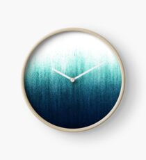 Teal Ombre  Clock