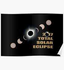 2017 Total Solar Eclipse Phases Poster