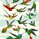 Hummingbirds, after Haekel by Scott Partridge
