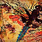 Dragonfly Red Sketchy  by Susan  Detroy