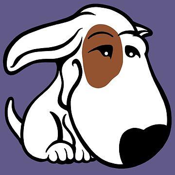 Soppy Bull Terrier White Coat Eye Patch by Sookiesooker