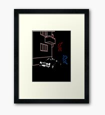 Science Fiction Neon Blur Framed Print