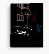 Science Fiction Neon Blur Canvas Print
