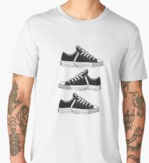Black Converses Men's Premium T-Shirt