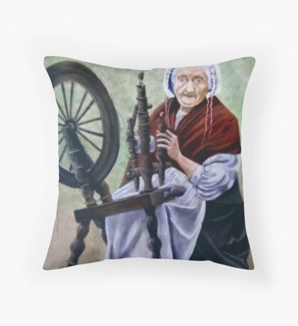 """Old Irish Spinner"" Throw Pillow"