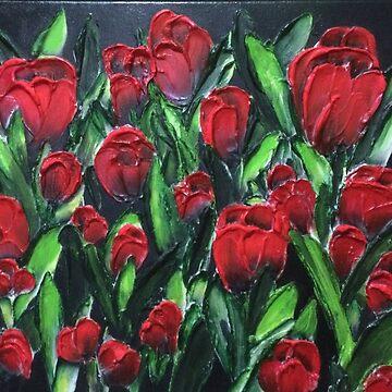 Red Tulips by LindaCorbitt