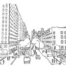 Chelsea NY Strichzeichnung von chailyn
