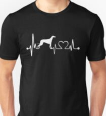 Love Greyhound Dog - Funny Dog Shirt Heartbeat T-Shirt