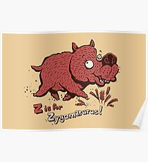 Z is for Zygomaturus! Poster