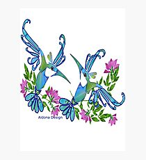 Birds & Flowers Photographic Print