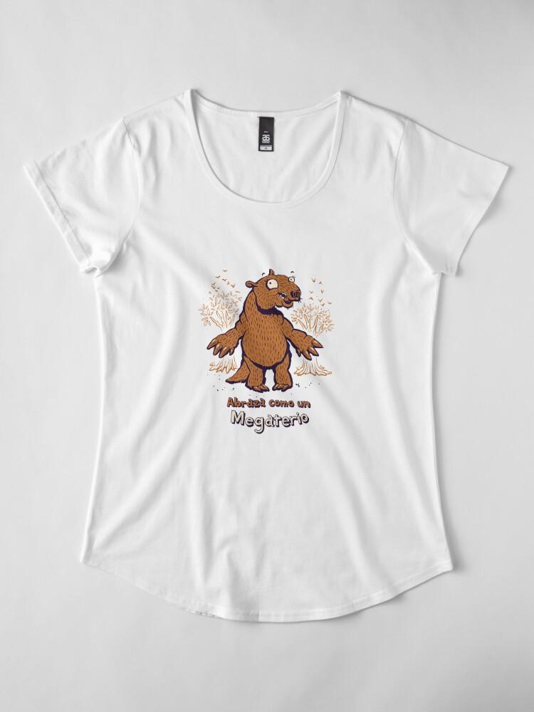 Alternate view of Abraza como un Megaterio Premium Scoop T-Shirt