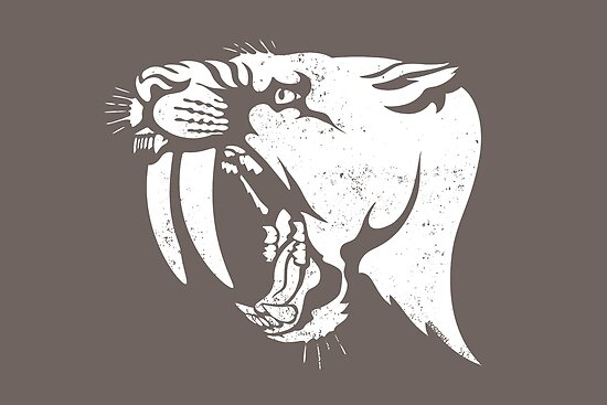 saber tooth cat stencil by Richard Morden