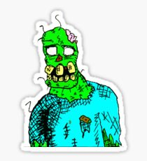 In the Cubicle Zombi RE1 Sticker
