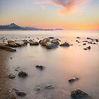 Pastel sunrise at the rocks by Ralph Goldsmith