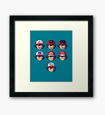 Ash Ketchum / Satoshi x7 Framed Print