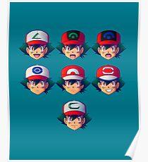 Ash Ketchum / Satoshi x7 Poster