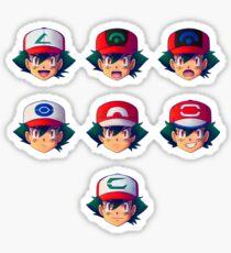 Ash Ketchum / Satoshi x7 Sticker