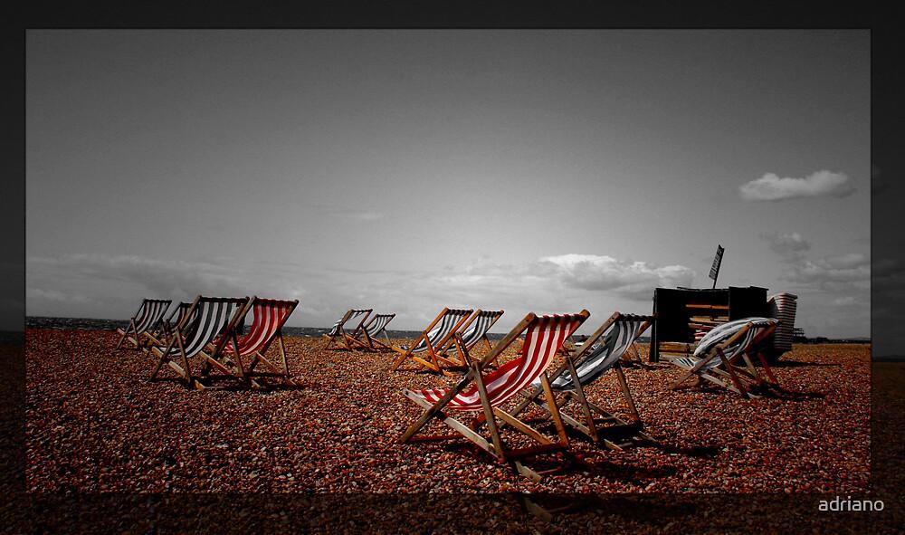 Empty beach by adriano