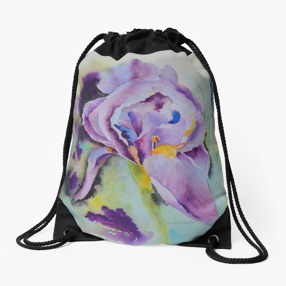 Purple glory Drawstring Bag Front