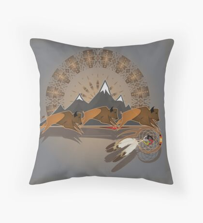 Buffalo People Throw Pillow