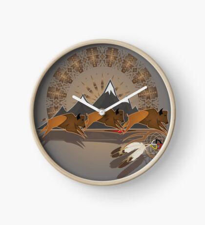 Buffalo People Clock