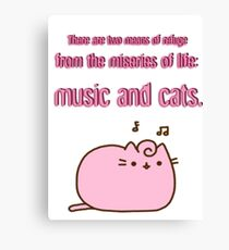 music and cats Canvas Print