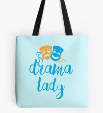 drama lady with happy sad masks Tote Bag