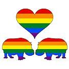 Regenbogen Flusspferde von DelirusFurittus